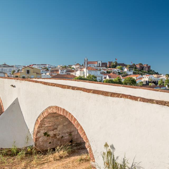 """The Rome Bridge in Silves, Portugal"" stock image"