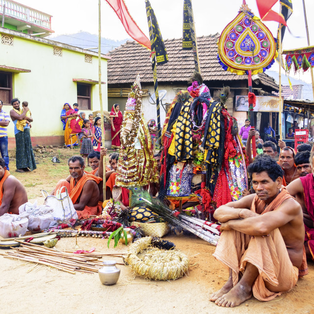 """A village religious festival celebrating auspicious day, copy sp"" stock image"