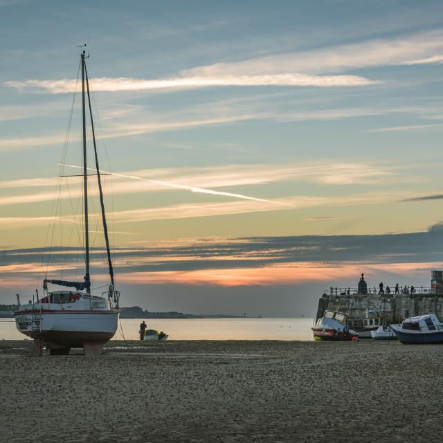 """Margate Harbour Sunset"" stock image"
