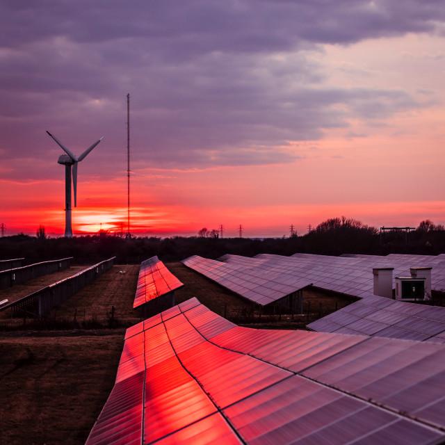 """Ramsgate Red Sunset"" stock image"