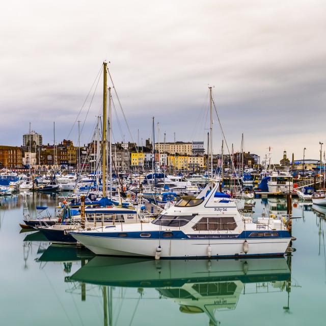 """Boats Ramsgate Marina"" stock image"