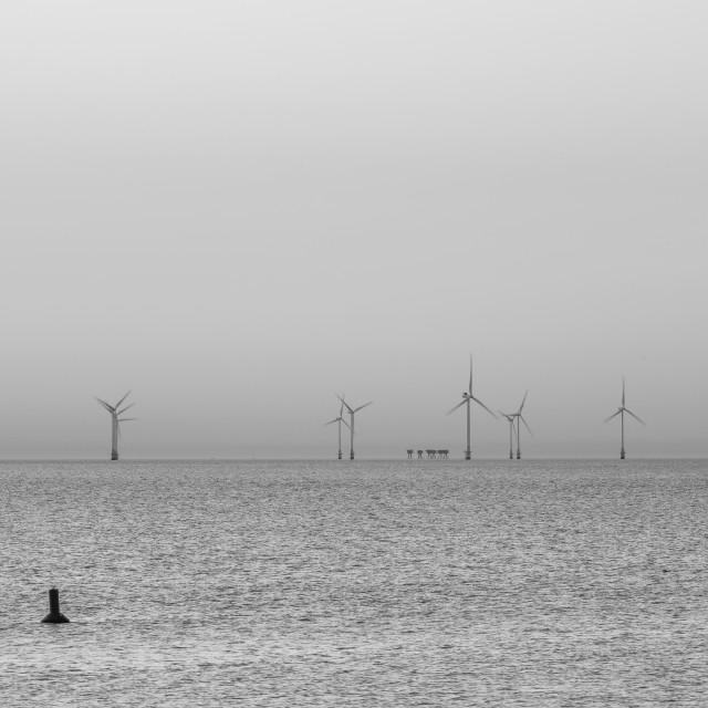 """Wind Farm Herne Bay"" stock image"