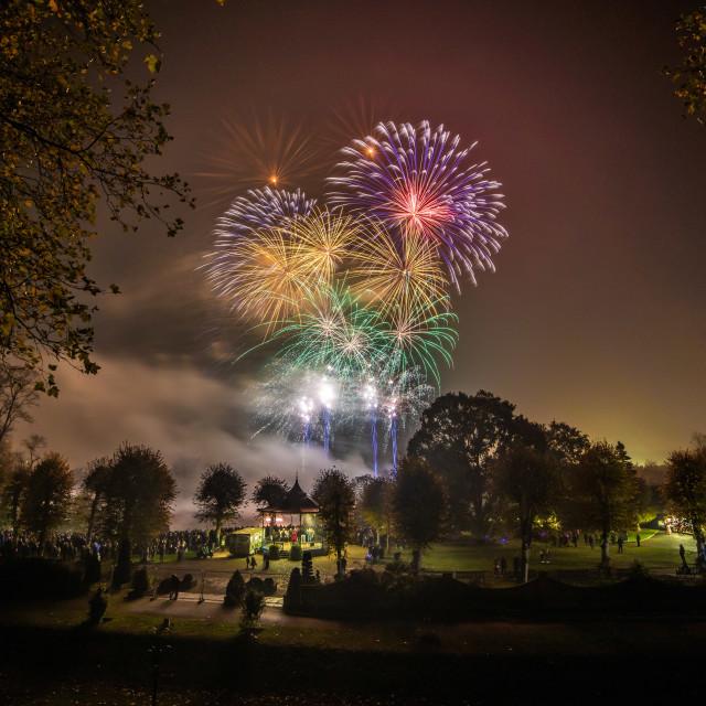 """Colchester Castle Park Fireworks"" stock image"