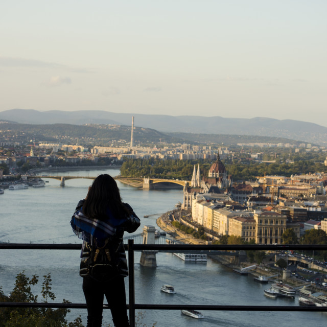 """""""Budapest Viewpoint"""" stock image"""