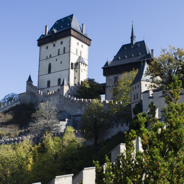 """""""Karlstejn Castle"""" stock image"""
