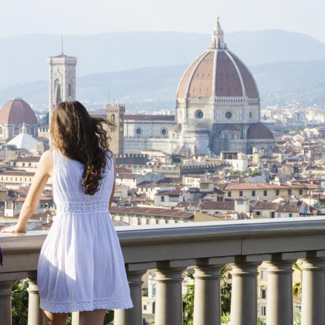"""View of Duomo"" stock image"
