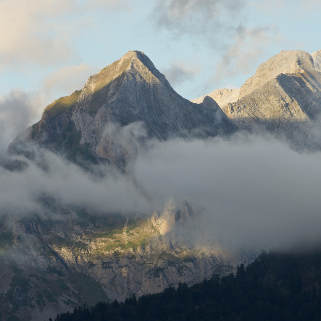 """Ossau Valley Panorama"" stock image"