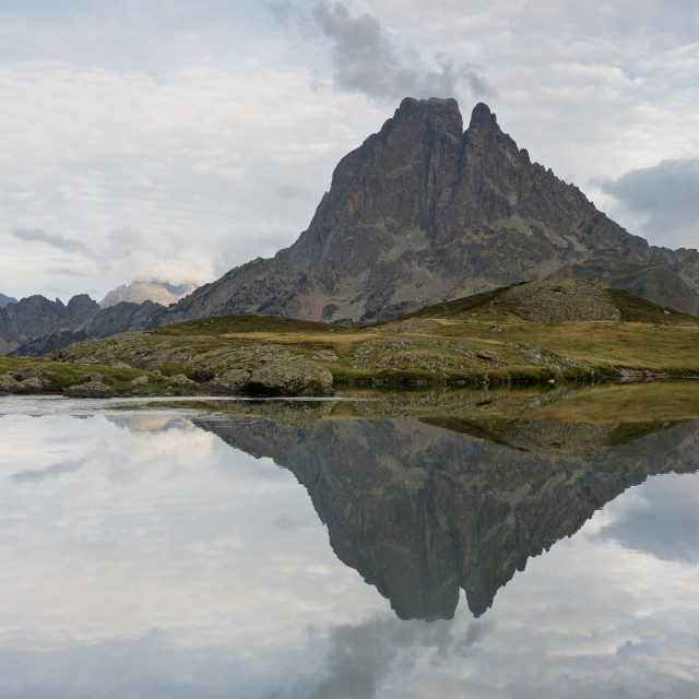 """""""Lac du Miey Reflection"""" stock image"""