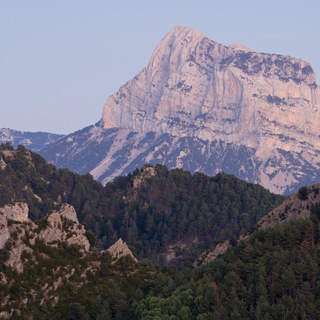 """Pena Montanesa Alpen Glow"" stock image"