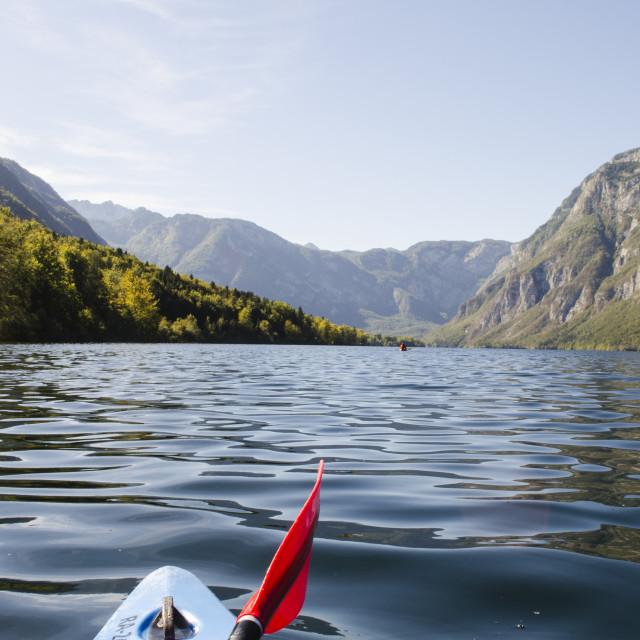 """Bohinj Kayak"" stock image"