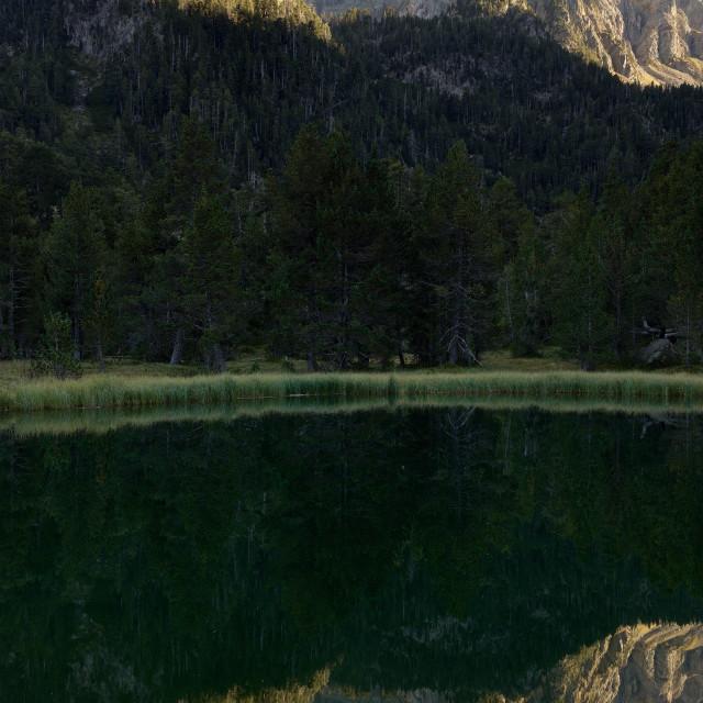 """""""Sunset at Ibonet de Batisielles"""" stock image"""