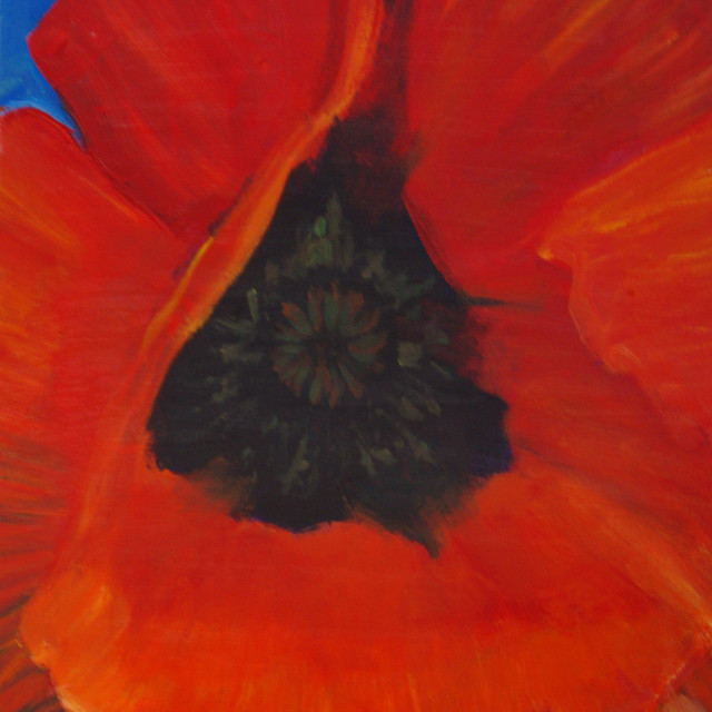 """Image of my painting Poppy#1"" stock image"