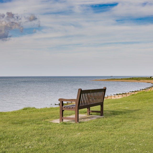 """""""Looking over the Bay Tankerton Kent"""" stock image"""