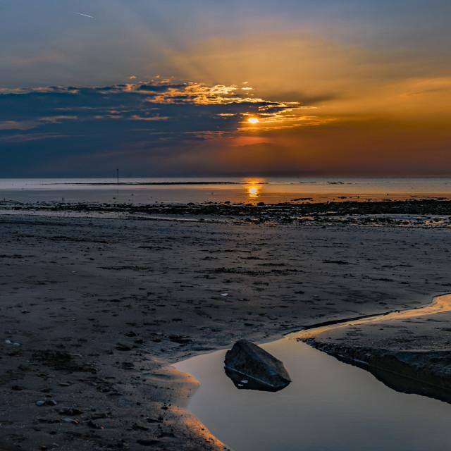 """""""Margate Seascape Sunset"""" stock image"""