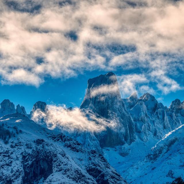 """Naranjo de Bulnes (known as Picu Urriellu) in Picos de Europa National Park."" stock image"