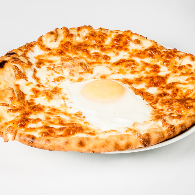 """""""Authentic Turkish Pita Bread with Cheese"""" stock image"""