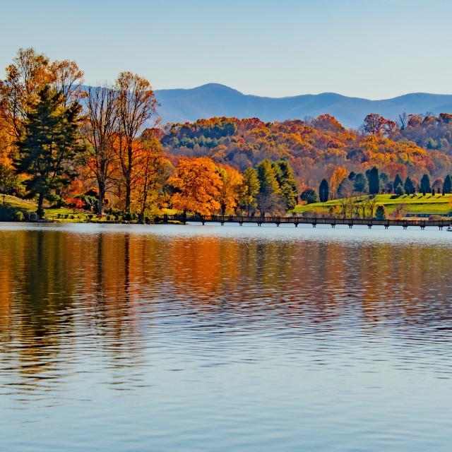 """Lake Junaluska Autumn"" stock image"
