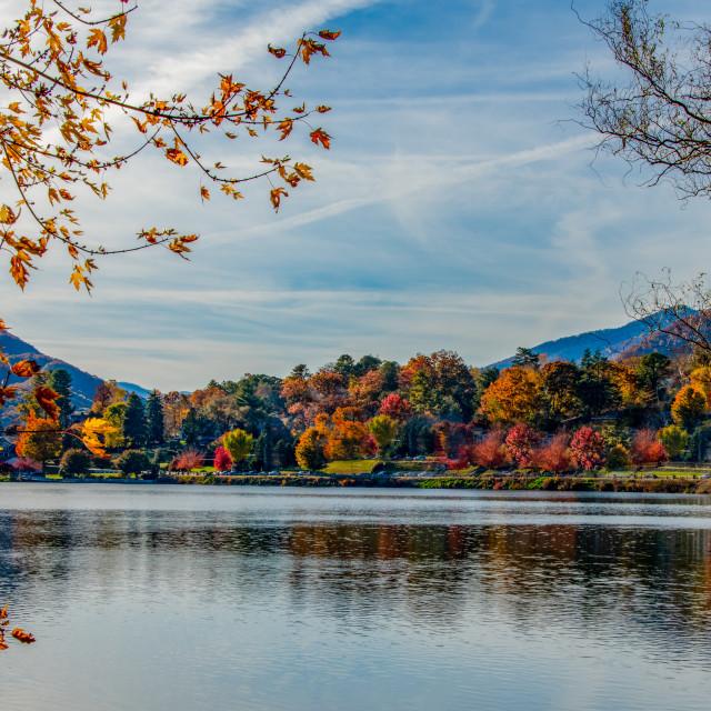 """Beautiful Lake Junaluska"" stock image"