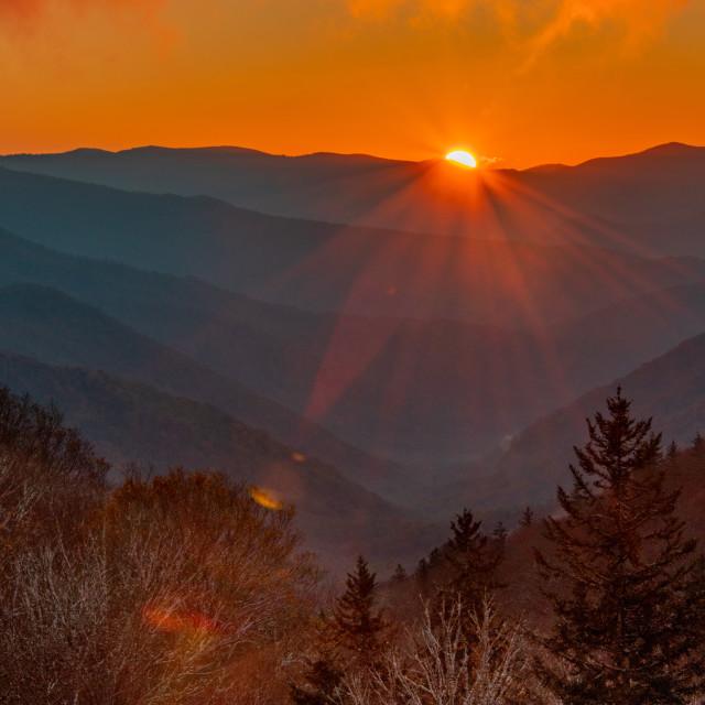 """""""Newfound Gap Sunrise"""" stock image"""