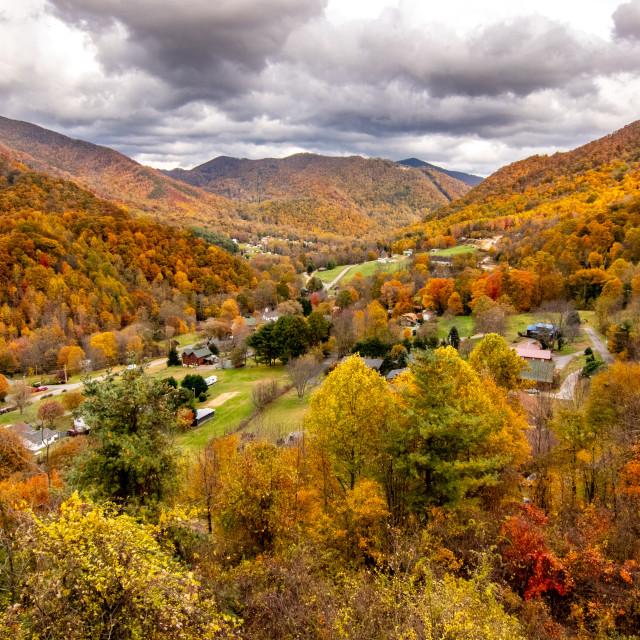 """Autumn in Soco Gap North Carolina"" stock image"