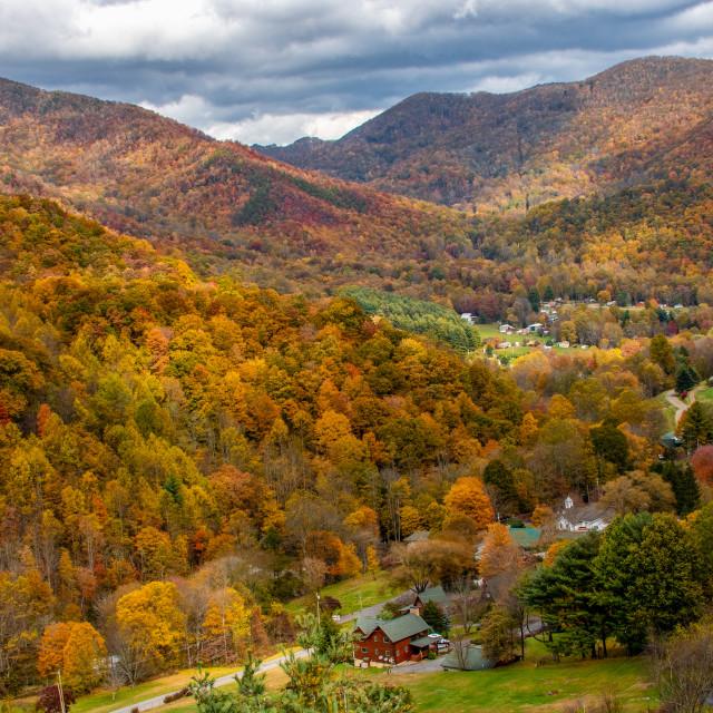 """""""Soco Gap At Autumn Peak Color"""" stock image"""