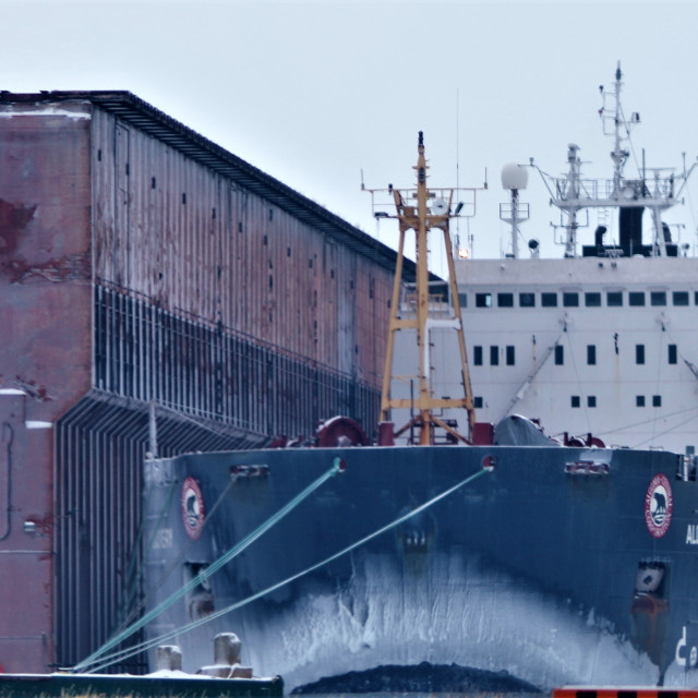 """Thunder Bay & District Harbours"" stock image"