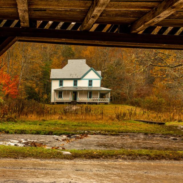 """Hiram Caldwell House View"" stock image"