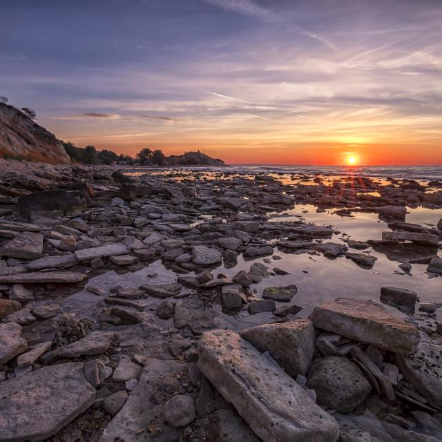 """rocky coast sea."" stock image"