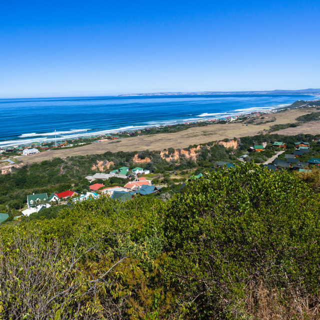 """Mossel Bay Coastline Ocean Horizon"" stock image"