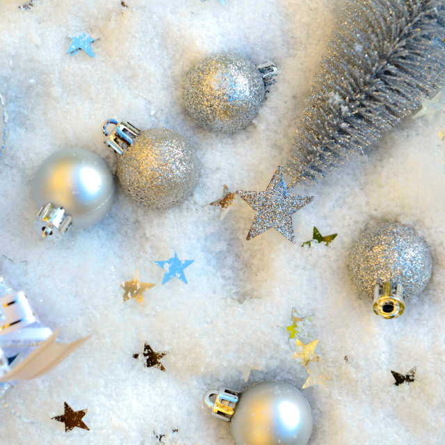 """""""christmas decoration in snow"""" stock image"""