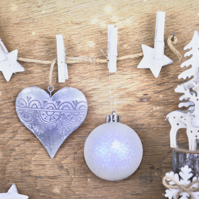 """""""christmas decoration on wooden"""" stock image"""