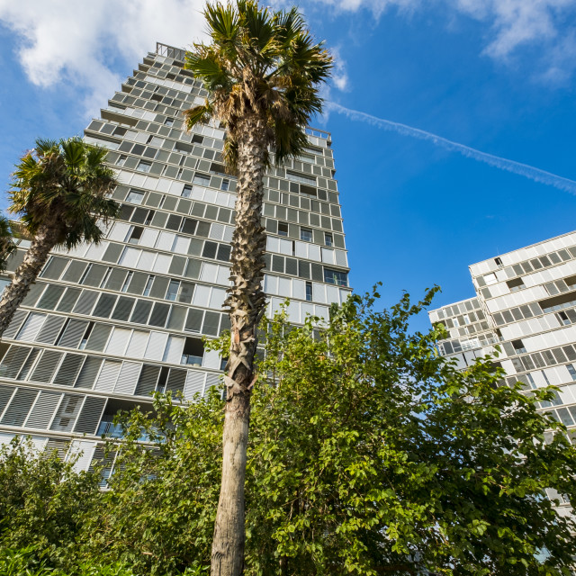"""""""Modern architecture in Barcelona, Spain"""" stock image"""