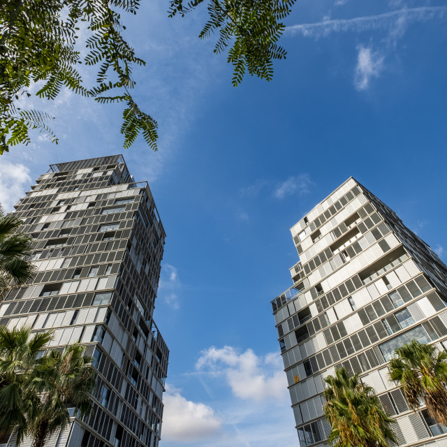 """Modern architecture in Barcelona, Spain"" stock image"