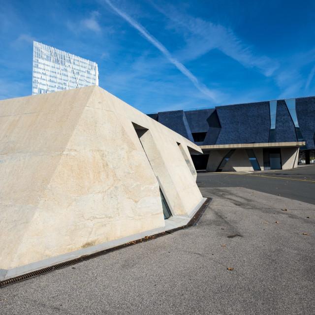 """Contemporary cityscape in Barcelona Spain"" stock image"