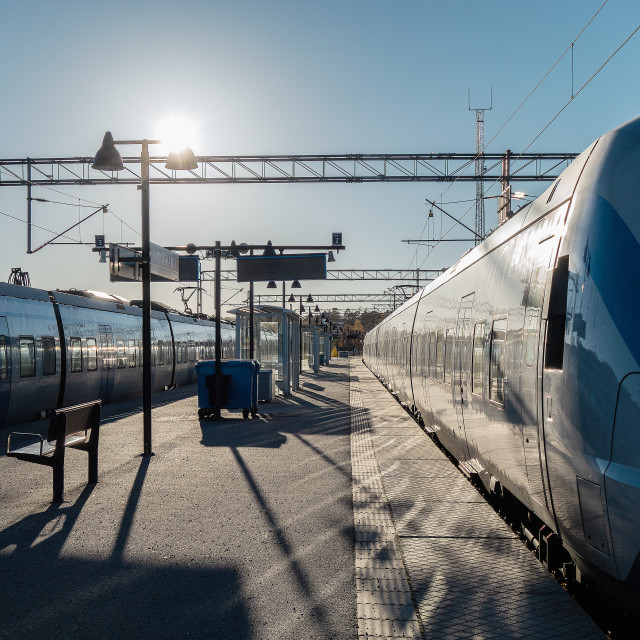 """""""Two trains"""" stock image"""