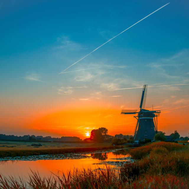 """Dutch Windmill"" stock image"