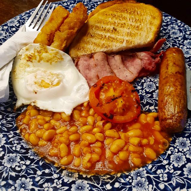 """English breakfast"" stock image"