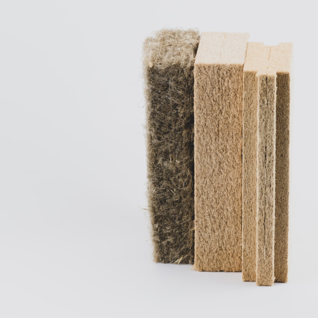 """wall and buildings insulation panels - energy savings materials"" stock image"