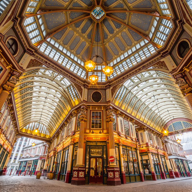 """""""Leadenhall Market in the City of London"""" stock image"""