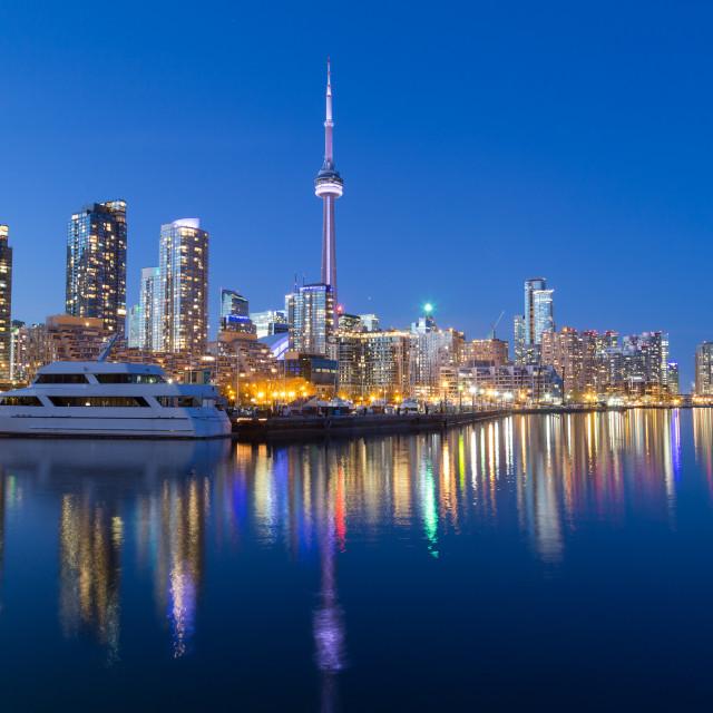 """Toronto Downtown at Dusk"" stock image"