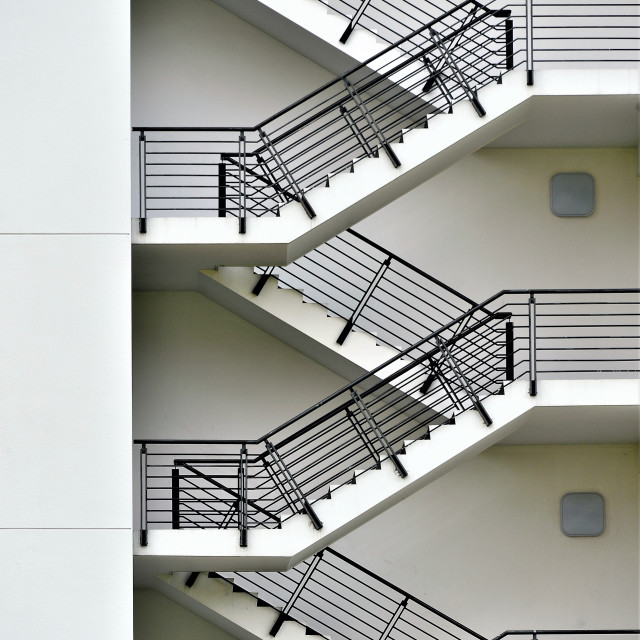 """Modern Exterior Staircase"" stock image"