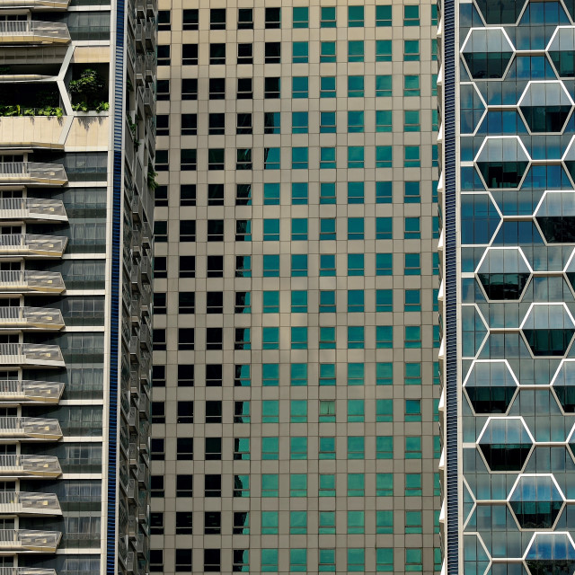 """""""Urban Wall of Steel and Glass"""" stock image"""