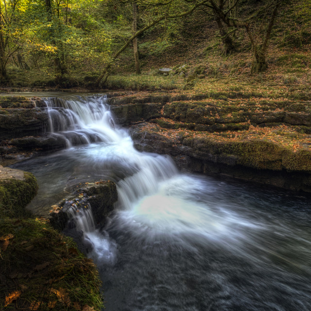 """Waterfall country South Wales"" stock image"