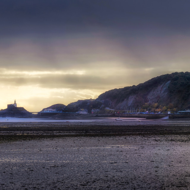 """November morning at Mumbles"" stock image"