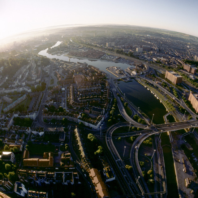 """""""Bristol from the air."""" stock image"""