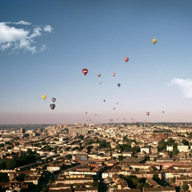 """""""Bristol Balloon Fiesta"""" stock image"""