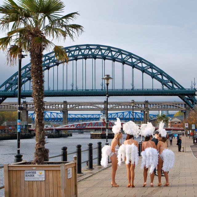 """Las Vegas comes to Newcastle Upon Tyne"" stock image"