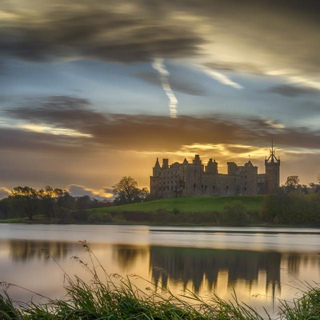 """""""Linlithgow Palace Sunrise"""" stock image"""
