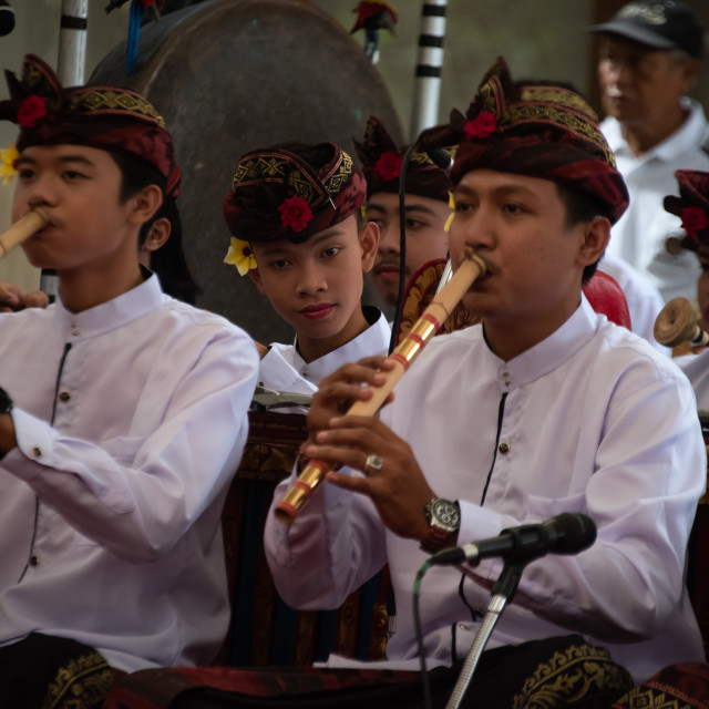 """""""Balinese Dance orchestra"""" stock image"""