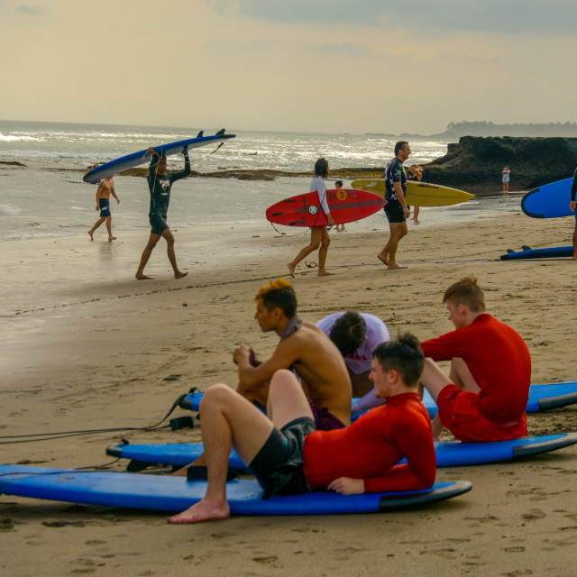 """Surf Beach"" stock image"